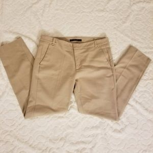 Zara Basic Tan Straight-Leg Pants Size 8